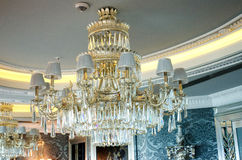 Chandelier in the classic. Interior Stock Image