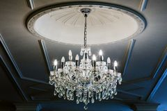 Chandelier in classic room Stock Images