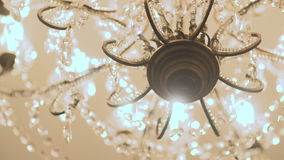 Chandelier close up. stock video footage