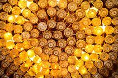 Chandelier close up shot. Hundreds of tiny light bulbs in close up Royalty Free Stock Photos