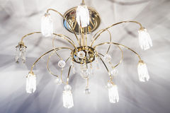 Chandelier with crystal Royalty Free Stock Photos