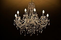 Chandelier of crystal royalty free stock photo