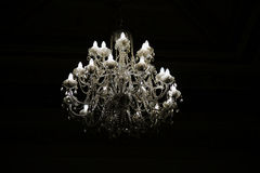 Chandelier with crystal pendants Royalty Free Stock Photography