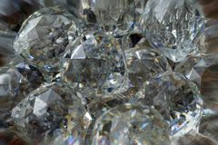 Chandelier crystals abstract reflections background