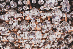 Chandelier crystals close up detail Royalty Free Stock Image