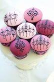 Chandelier cupcakes Stock Photos