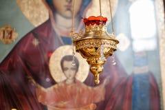 Chandelier d'église Photos stock
