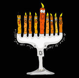 Chandelier de Hanukkah Images stock