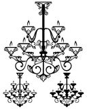 Chandelier vector design Royalty Free Stock Images