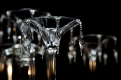 Chandelier detail. Detail with a crystal chandelier cup Stock Photos