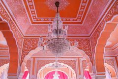 Chandelier at Diwan-i-Khas - Hall of Private Audience in Jaipur Royalty Free Stock Image