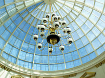 Chandelier and dome Stock Images