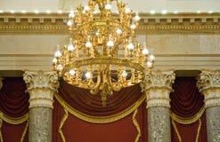 chandelier elaborate gold Στοκ Φωτογραφία