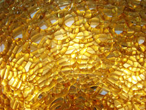 Chandelier. Flat chandelier of twisted Italian glass of orange royalty free stock photo