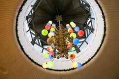 Chandelier in the foyer of the theater Royalty Free Stock Image