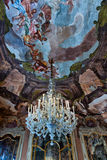 Chandelier and Frescos in Palazzo Dolfin Royalty Free Stock Photography