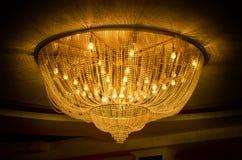 chandelier golden Στοκ εικόνα με δικαίωμα ελεύθερης χρήσης