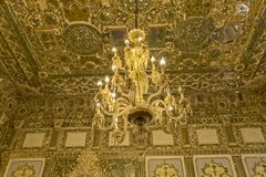 Chandelier Golestan Palace Stock Photos