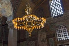 Chandelier in Hagia Sophia Istanbul Stock Images