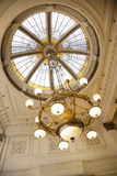 Chandelier Hanging From Cupola In Cafe Stock Photography