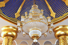 The chandelier in hotel's lobby at luxury hotel Royalty Free Stock Photography