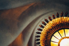 The chandelier in the house Batllo. House of bones. Gaudi. Barcelona. Spain Stock Photography