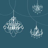 Chandelier icon great for any use. Vector EPS10. Royalty Free Stock Image