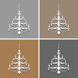 Chandelier icons set great for any use. Vector EPS10. Royalty Free Stock Photos