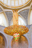 Chandelier inside Sheikh Zayed Grand Mosque Stock Photos