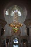 Chandelier inside Zayed mosque, Abu Dhabi, United Arab Emirates Stock Image