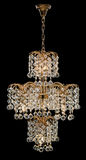 Chandelier for interior of the living room. chandelier decorated with crystals isolated on black background. Classic Chandelier for interior decoration of the Stock Image