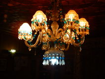 Chandelier in Kashmir Houseboat Royalty Free Stock Images