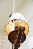 Chandelier lamp fixtures. High ceiling chandelier lamp fixtures Stock Images