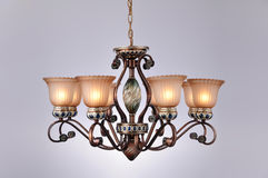 Chandelier lamp lighting Royalty Free Stock Photo