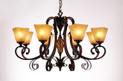 Chandelier lamp lighting Stock Photo
