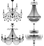 Chandelier lamp. Set of chandelier lamp Royalty Free Stock Photography