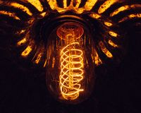 Chandelier light illuminated