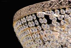 Chandelier light in interior, Chrystal chandelier close-up.crystal part from chandelier,chandelier, lighting, equipment, luxury, Stock Photo