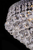 Chandelier light in interior, Chrystal chandelier close-up.crystal part from chandelier,chandelier, lighting, equipment, luxury,. Chandelier light in interior Royalty Free Stock Photo