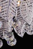 Chandelier light in interior, Chrystal chandelier close-up.crystal part from chandelier,chandelier, lighting, equipment, luxury, Stock Images