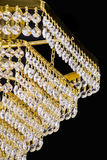 Chandelier light in interior, Chrystal chandelier close-up.crystal part from chandelier,chandelier, lighting, equipment, luxury, Stock Photography