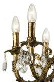 Chandelier light in interior, Chrystal chandelier close-up.crystal part from chandelier,chandelier, lighting, equipment, luxury, Stock Image