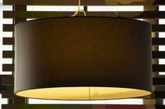 Chandelier light in interior closeup. With blurred background stock image