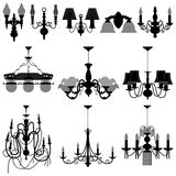 Chandelier Light Lamp. A set of chandelier and wall lamps Stock Photography