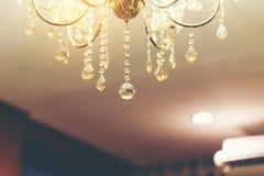 Chandelier light. Chandelier light for luxury home decoration Stock Image