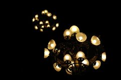 Chandelier lights Stock Images