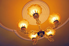 Chandelier with lights Royalty Free Stock Image