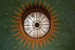 Chandelier looking like a beautiful art deco pattern Royalty Free Stock Images