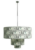 Chandelier made from dollars. One chandelier made from dollars Royalty Free Stock Images