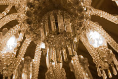 Chandelier in the Main Entrance Hall - close Up Stock Images